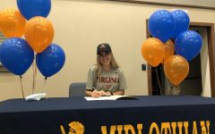 Senior Caroline Bowe signs to run Division 1 Cross Country and Track & Field at the University of Virginia.