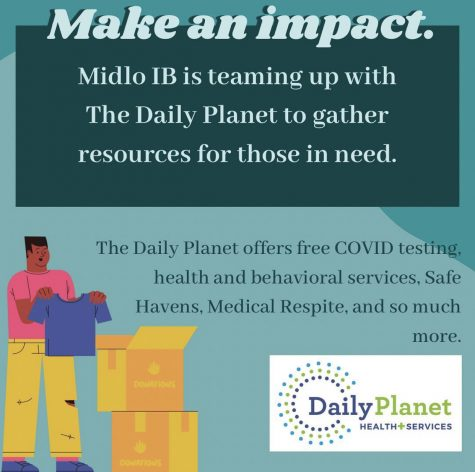 The Midlothian High Schools IB Program partners with The Daily Planet to help those in need.