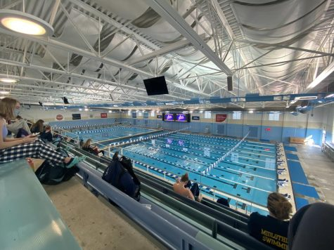 The competition pool at SwimRVA.