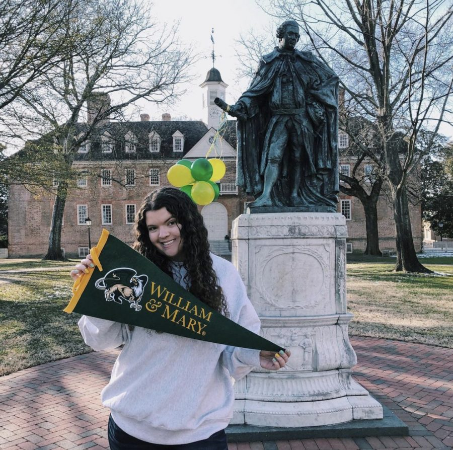 Kat Moser commits to William and Mary. College acceptances give the Class of 2021 peace of mind throughout the remainder of senior year.