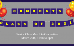 Seniors are encouraged to celebrate at the March to Graduation on March 20th from 11am to 2pm.