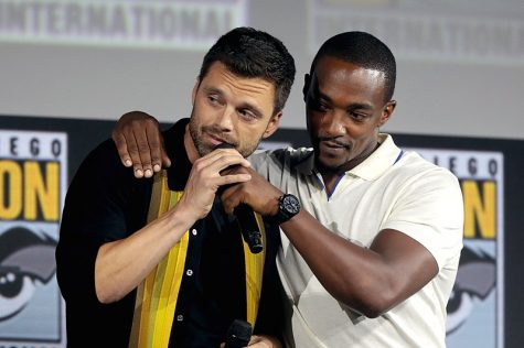Co-stars Anthony Mackie and Sebastian Stan promotes the new Marvel installment at the Comic Con premiere.