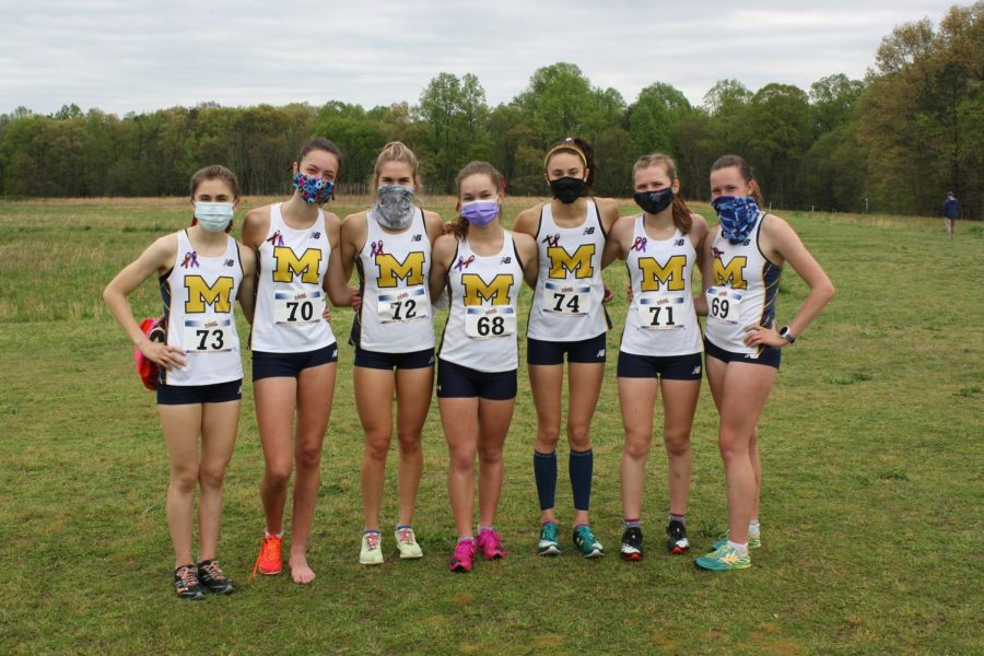 Midlo's Girls Cross Country team wins the VHSL Region 5B Cross Country Championships at Pole Green Park.