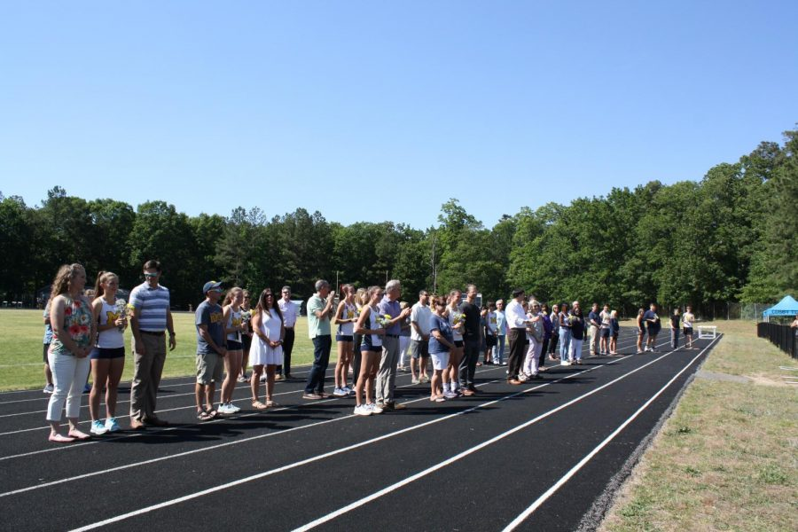 The seniors on the Cross Country and Track & Field teams are recognized for their dedication to the sport of running.