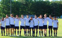 Boys varsity soccer has their final game at senior night.