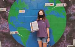 Jordan Cibellis capitalizes on her high school career by receiving the CCPS Citizenship Award.