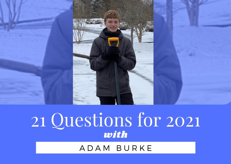 21 questions with Freshmen Class President Adam Burke