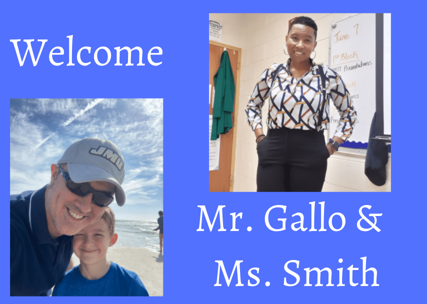 Midlo welcomes new teachers, Mr. Gallo and Ms. Smith to the science department