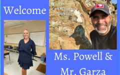 Midlo welcomes new teachers Ms. Powell (economics) and Mr. Garza (history).