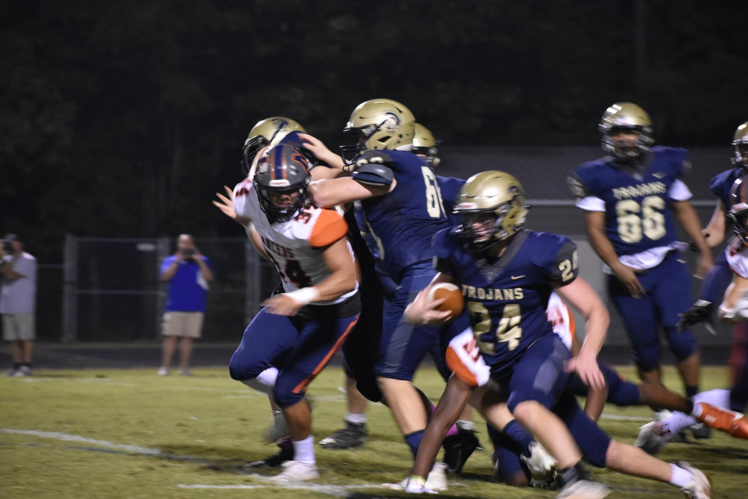 Midlo football walks away with a historic win against the Manchester Lancers.