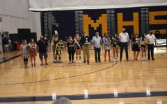 Volleyball Seniors honored during their Senior Night ceremony.