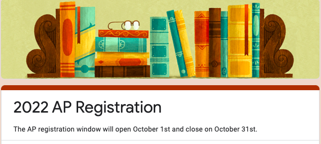 Students must register using the bit.ly link provided by Midlo.